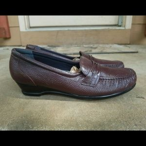 SAS Tripad Brown Leather Comfort Loafers Women 10M
